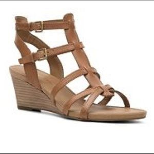 Franco Sarto Doris Leather Wedge Sandal